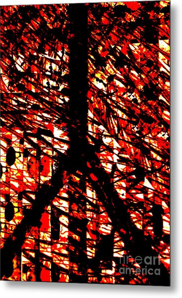 Inappropriate Oppressive Peace Metal Print by Robert Haigh