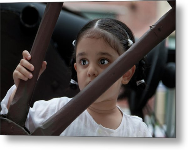 India Day Paradenyc 2011 Sikh Girl Metal Print