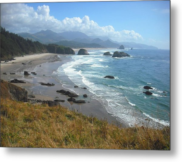 Indian Beach Ecola State Park Metal Print
