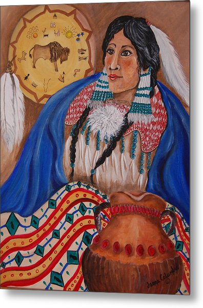 Indian Bride Metal Print by Janna Columbus