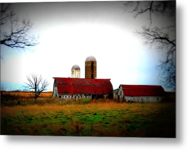 Indiana Barns Metal Print