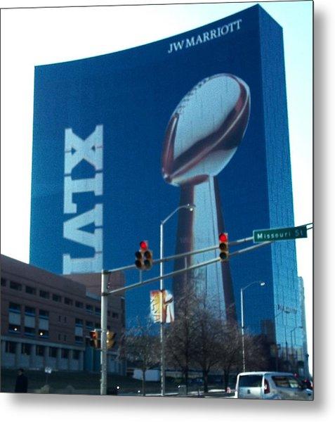 Indianapolis Marriott Trubute To Super Bowl 46 Metal Print