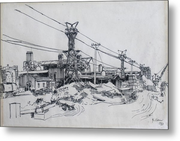 Industrial Site Metal Print