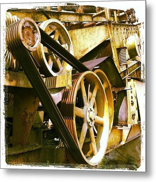 #industrialstrength #industrialbeauty Metal Print