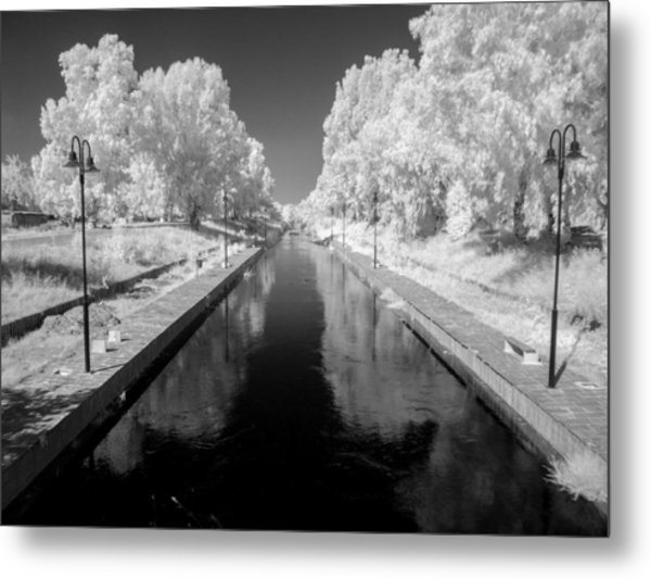 Infrared River Metal Print