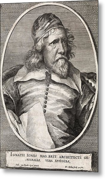 Inigo Jones, British Architect Metal Print by Middle Temple Library