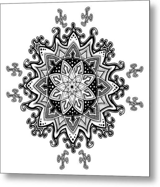 Innocent Snowflake Metal Print by Ansel Cummings