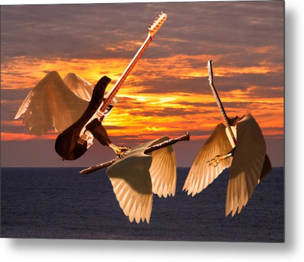 Metal Print featuring the mixed media Instrumental Rift by Eric Kempson