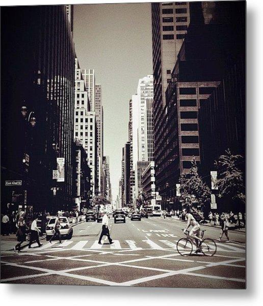 Intersection - New York City Metal Print