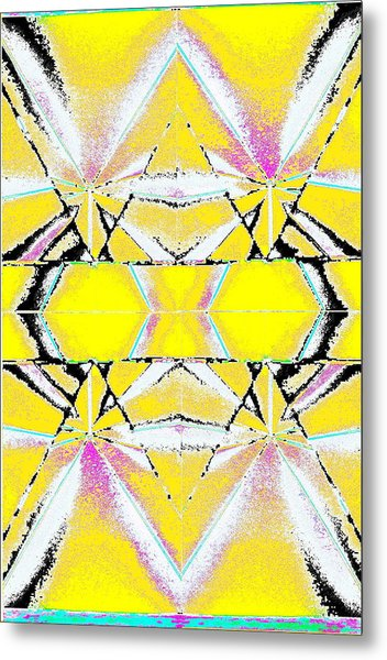 Into The Sky Yellow Metal Print