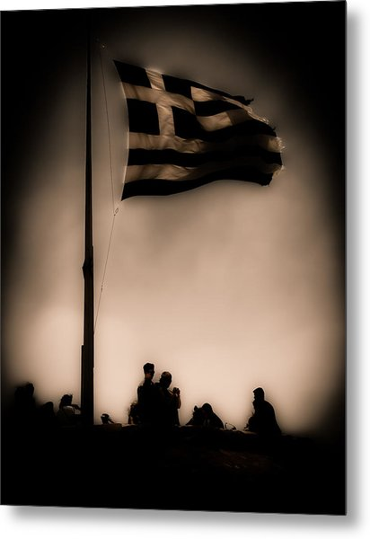 Athens, Greece - Invading Hoards Metal Print
