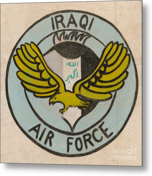 Iraqi Air Force Crest Metal Print by Unknown