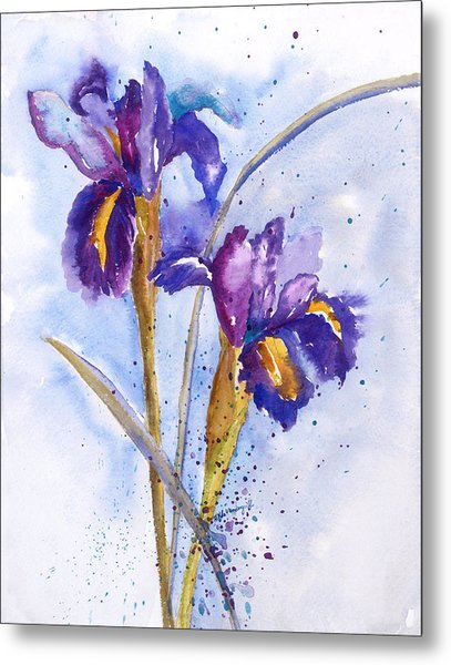 Iris Purple Metal Print