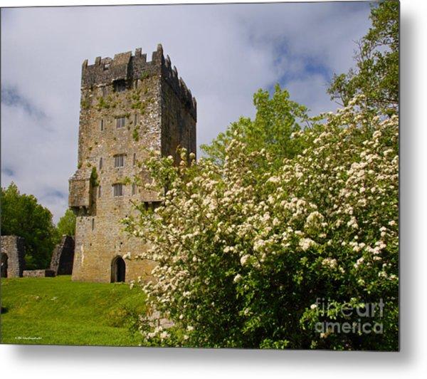 Irish Travel Landscape Aughnanure Castle Ireland Metal Print
