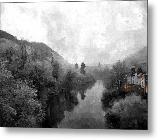 Ironbridge Winter Metal Print