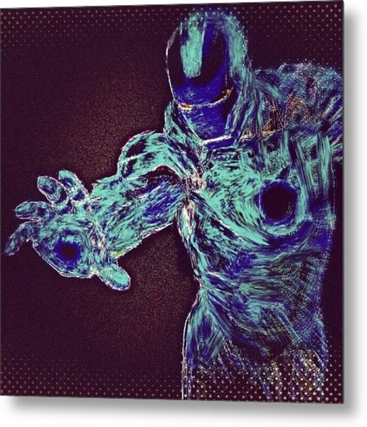 #ironman #remix #heatmap #filter After Metal Print