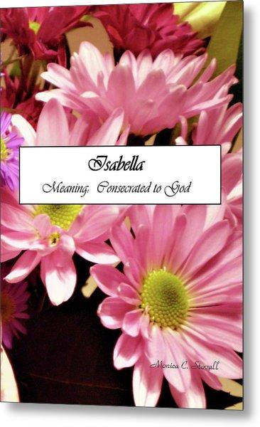 Isabella - Name Poster Metal Print