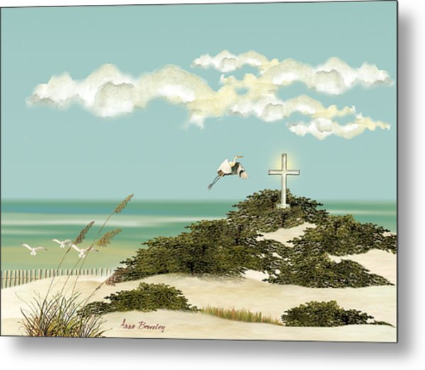 Island Cross Metal Print