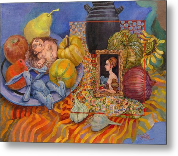 It All Began With The Squash Metal Print by Erin Libby