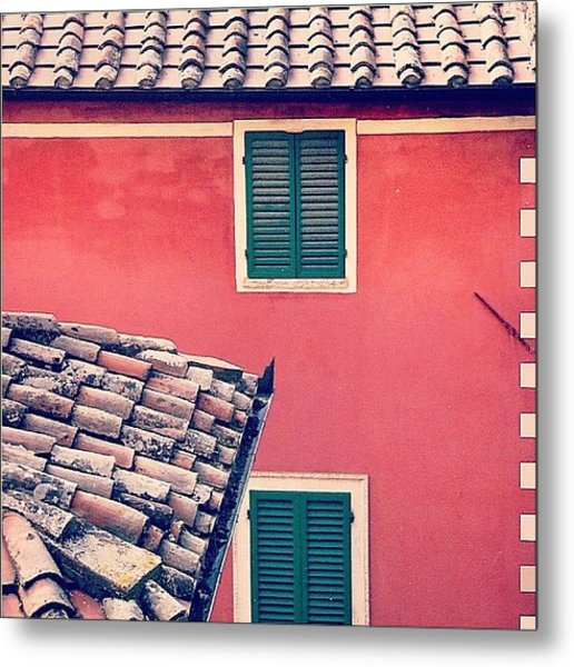 Italian Geometry #house #shutters Metal Print