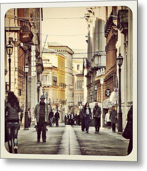 Italian Main Street Metal Print