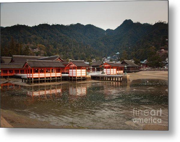 Itsukushima Shrine On Miyajima Island Metal Print by Ei Katsumata