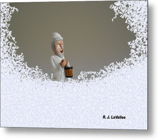 Jack Frost... Caught In The Act. Metal Print