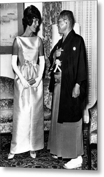 Jacqueline Kennedy, And Japanese Prime Metal Print by Everett