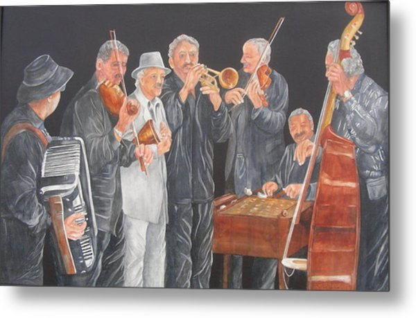 Metal Print featuring the painting Jammin' by Paula Robertson