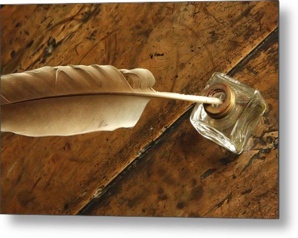 Jane Austen's Pen Metal Print