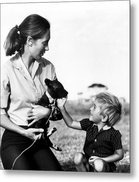 Jane Goodall And Her Son Grub Ca Photograph By Everett