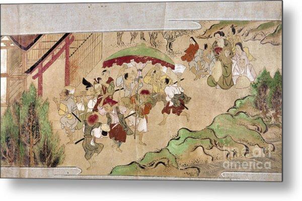 Japan: Peasants, C1575 Metal Print