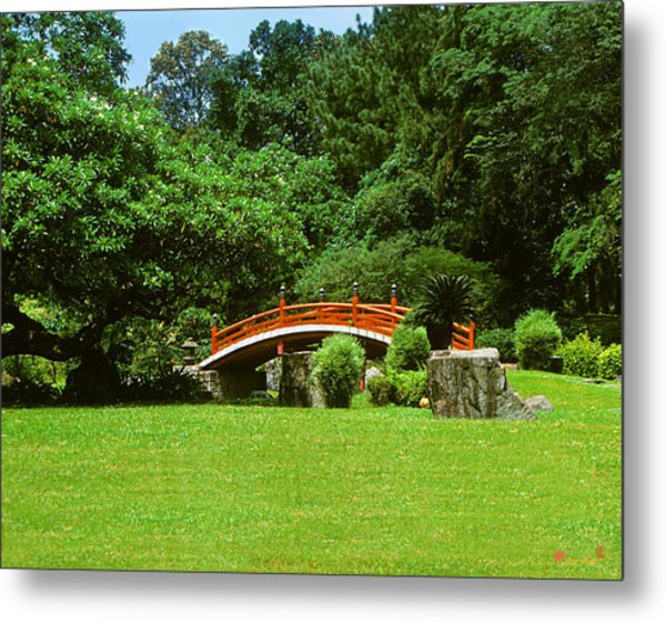 Japanese Garden Bridge 21m Metal Print
