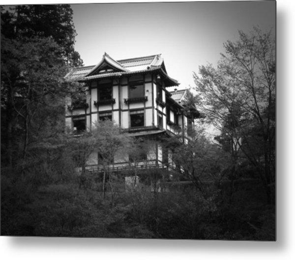 Japanese Traditional House Metal Print by Naxart Studio