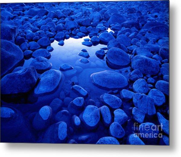 Jasper - Blue Boulders Metal Print by Terry Elniski