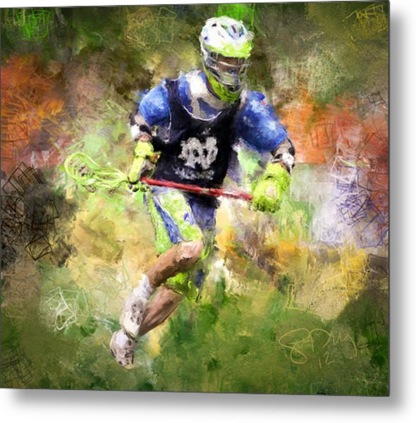 Jaxx Lacrosse 2 Metal Print by Scott Melby