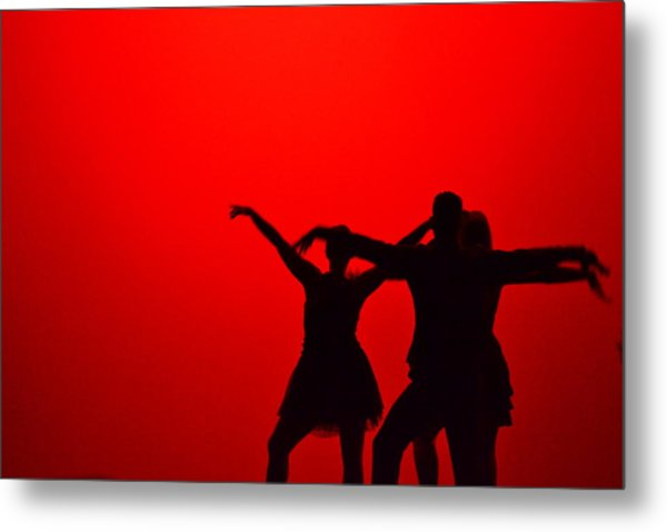 Jazz Dance Silhouette Metal Print