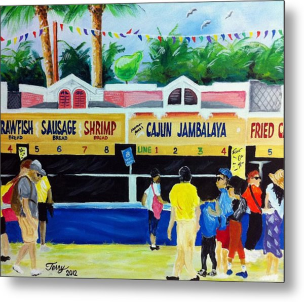 Jazz Fest Food Metal Print by Terry J Marks Sr
