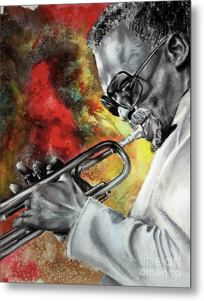 Jazz Fire Metal Print