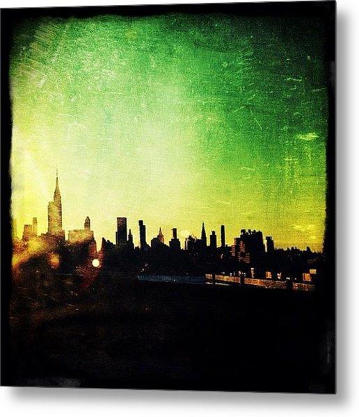 Jersey View Of Manhattan Metal Print