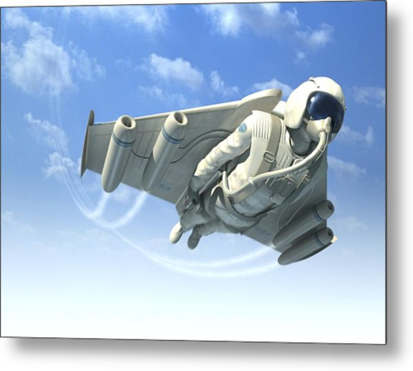 Jetman, Artwork Metal Print by Henning Dalhoff
