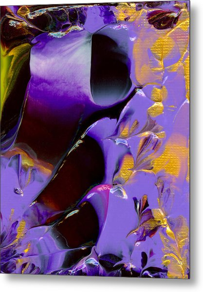 Jeweled Amethyst Metal Print by Nan Bilden