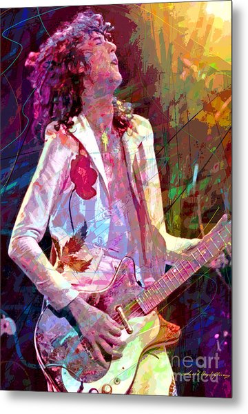 Jimmy Page Led Zep Metal Print