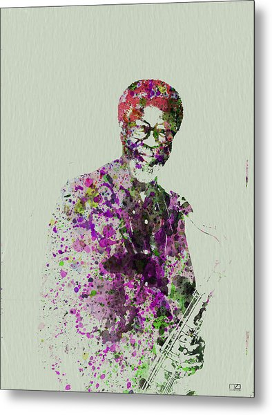 Joe Henderson Watercolor  Metal Print