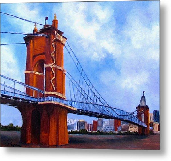 John A. Roebling Bridge Metal Print