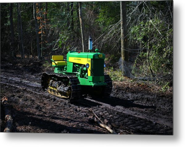 John Deere Tractor Model 430      Metal Print