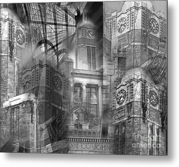 Johnson County Tx Courthouse Metal Print by David Carter