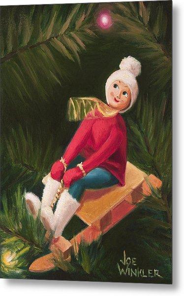 Metal Print featuring the painting Jolly Old Elf by Joe Winkler