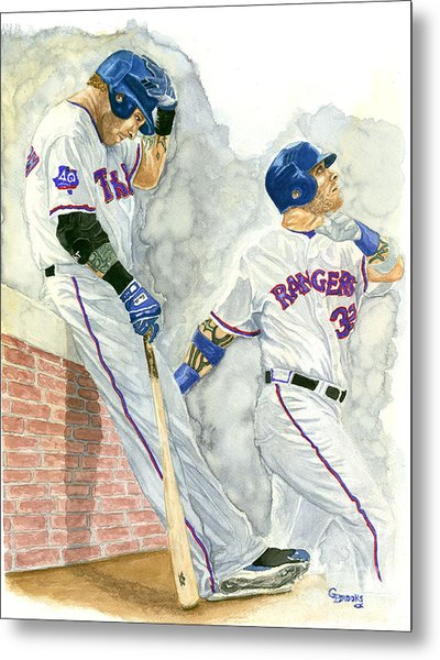 Josh Hamilton The Ball Player Metal Print