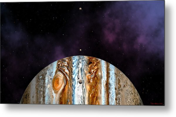 Jovian Giant Metal Print